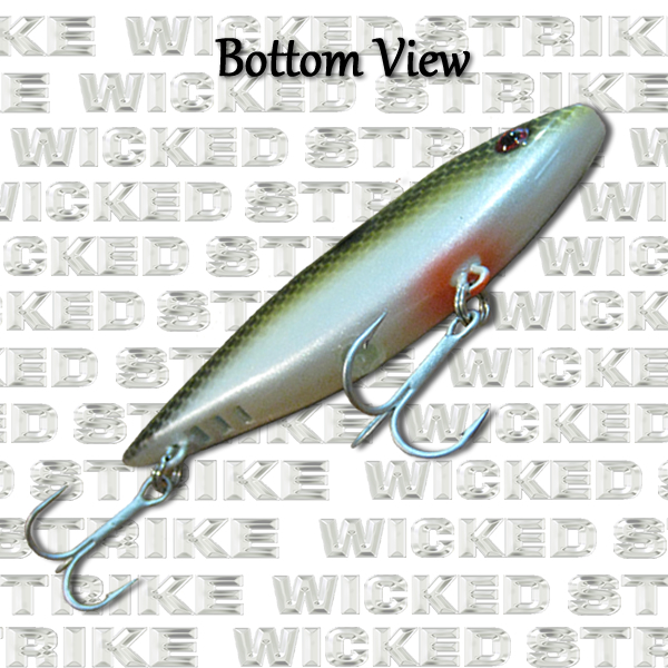 Electric Shad - ½ oz - 75mm Bottom View